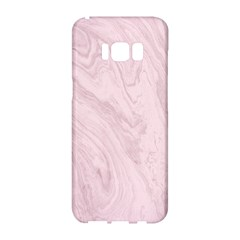 Marble Background Texture Pink Samsung Galaxy S8 Hardshell Case