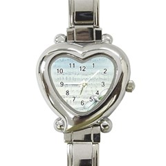 Vintage Blue Music Notes Heart Italian Charm Watch