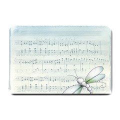 Vintage Blue Music Notes Small Doormat