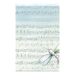 Vintage Blue Music Notes Shower Curtain 48  X 72  (small)