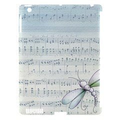 Vintage Blue Music Notes Apple Ipad 3/4 Hardshell Case (compatible With Smart Cover)