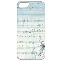 Vintage Blue Music Notes Apple Iphone 5 Classic Hardshell Case