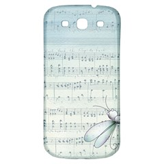 Vintage Blue Music Notes Samsung Galaxy S3 S Iii Classic Hardshell Back Case