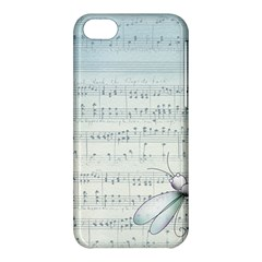Vintage Blue Music Notes Apple Iphone 5c Hardshell Case