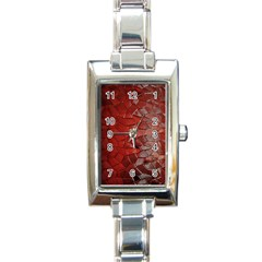 Pattern Backgrounds Abstract Red Rectangle Italian Charm Watch