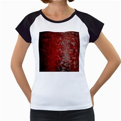 Pattern Backgrounds Abstract Red Women s Cap Sleeve T
