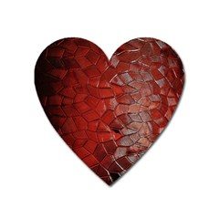 Pattern Backgrounds Abstract Red Heart Magnet