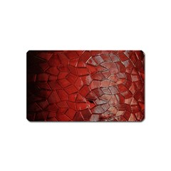 Pattern Backgrounds Abstract Red Magnet (name Card)