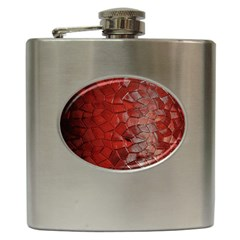 Pattern Backgrounds Abstract Red Hip Flask (6 Oz)