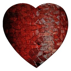 Pattern Backgrounds Abstract Red Jigsaw Puzzle (heart)