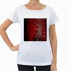 Pattern Backgrounds Abstract Red Women s Loose Fit T Shirt (white)