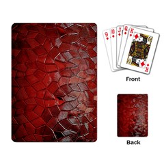 Pattern Backgrounds Abstract Red Playing Card