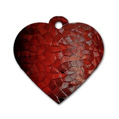 Pattern Backgrounds Abstract Red Dog Tag Heart (two Sides)
