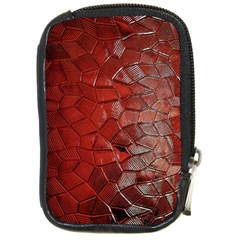 Pattern Backgrounds Abstract Red Compact Camera Cases
