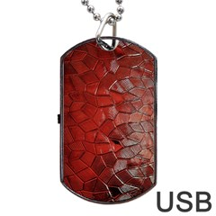 Pattern Backgrounds Abstract Red Dog Tag Usb Flash (two Sides)