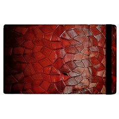 Pattern Backgrounds Abstract Red Apple Ipad 2 Flip Case
