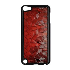 Pattern Backgrounds Abstract Red Apple Ipod Touch 5 Case (black)