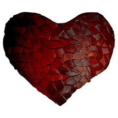 Pattern Backgrounds Abstract Red Large 19  Premium Heart Shape Cushions