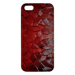 Pattern Backgrounds Abstract Red Apple Iphone 5 Premium Hardshell Case