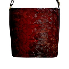 Pattern Backgrounds Abstract Red Flap Messenger Bag (l)