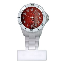 Pattern Backgrounds Abstract Red Plastic Nurses Watch