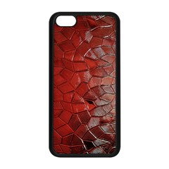 Pattern Backgrounds Abstract Red Apple Iphone 5c Seamless Case (black)