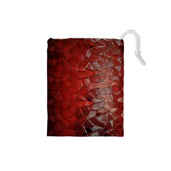 Pattern Backgrounds Abstract Red Drawstring Pouches (small)