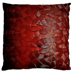 Pattern Backgrounds Abstract Red Large Flano Cushion Case (one Side)