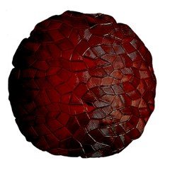Pattern Backgrounds Abstract Red Large 18  Premium Flano Round Cushions