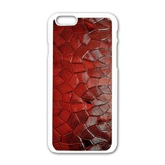 Pattern Backgrounds Abstract Red Apple Iphone 6/6s White Enamel Case