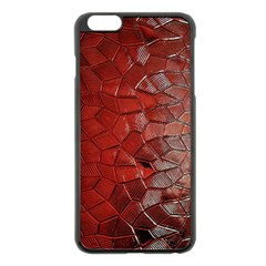 Pattern Backgrounds Abstract Red Apple Iphone 6 Plus/6s Plus Black Enamel Case