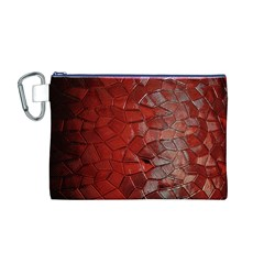 Pattern Backgrounds Abstract Red Canvas Cosmetic Bag (m)