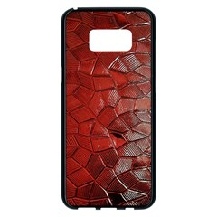 Pattern Backgrounds Abstract Red Samsung Galaxy S8 Plus Black Seamless Case