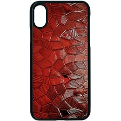 Pattern Backgrounds Abstract Red Apple Iphone X Seamless Case (black)
