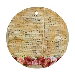 Background Old Parchment Musical Ornament (round)