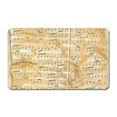 Background Old Parchment Musical Magnet (rectangular)