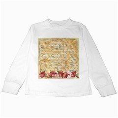 Background Old Parchment Musical Kids Long Sleeve T Shirts