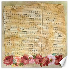 Background Old Parchment Musical Canvas 16  X 16