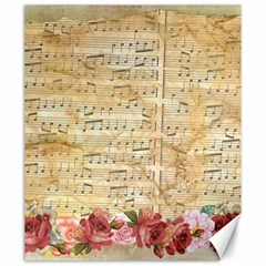 Background Old Parchment Musical Canvas 20  X 24