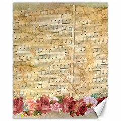 Background Old Parchment Musical Canvas 11  X 14