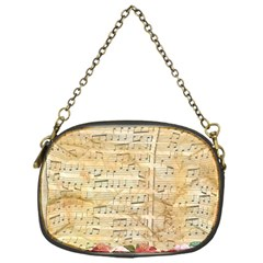 Background Old Parchment Musical Chain Purses (one Side)