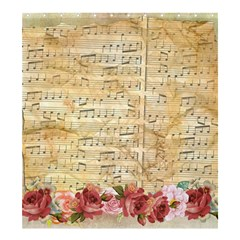 Background Old Parchment Musical Shower Curtain 66  X 72  (large)