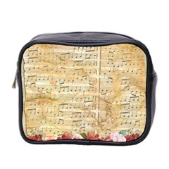 Background Old Parchment Musical Mini Toiletries Bag 2 Side