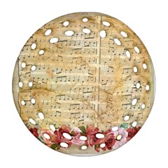 Background Old Parchment Musical Ornament (round Filigree)