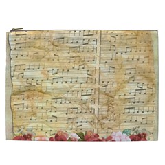 Background Old Parchment Musical Cosmetic Bag (xxl)