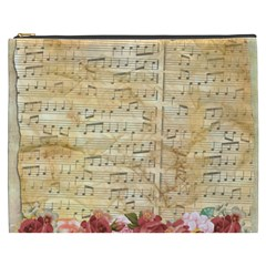 Background Old Parchment Musical Cosmetic Bag (xxxl)