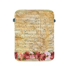Background Old Parchment Musical Apple Ipad 2/3/4 Protective Soft Cases