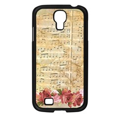 Background Old Parchment Musical Samsung Galaxy S4 I9500/ I9505 Case (black)