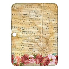 Background Old Parchment Musical Samsung Galaxy Tab 3 (10 1 ) P5200 Hardshell Case