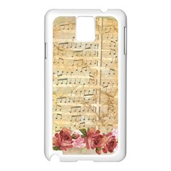 Background Old Parchment Musical Samsung Galaxy Note 3 N9005 Case (white)